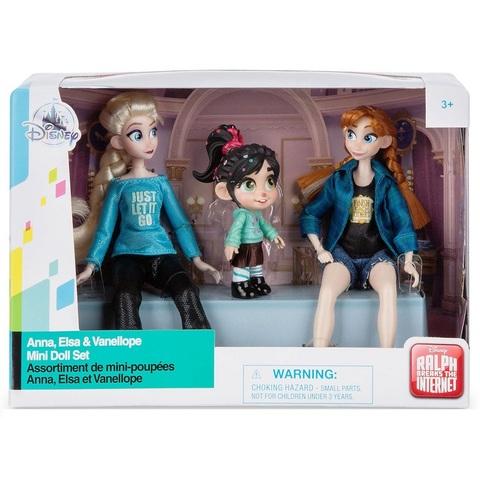 Мини-куклы Анна, Эльза и Ванилопа. Ральф против интернета