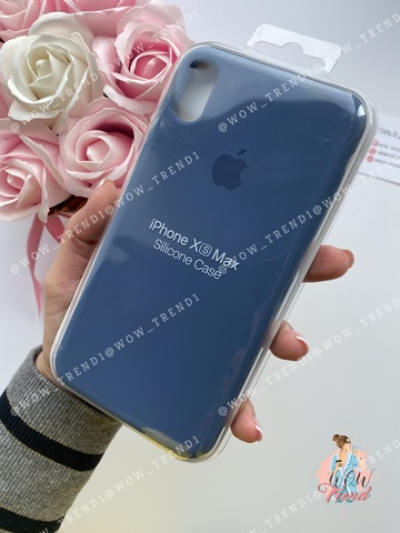 Чехол iPhone X/XS Silicone Case /alaskan blue/ морской лёд 1:1