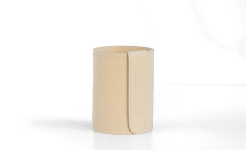 Стакан Н12 кожа Cuoietto (Италия) цвет слоновая кость.