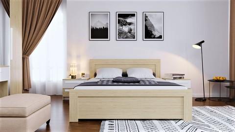 Кровать Стильная, двуспальная с подъемным механизмом