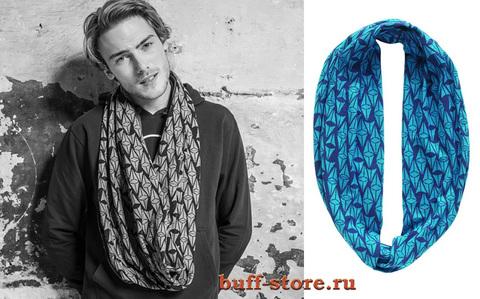 Модный шарф-труба Buff Varsity Fierce Ocean Dephts