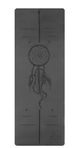 Каучуковый коврик для йоги Amulet c разметкой 185*68*4,5см