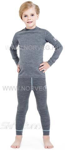 Термобелье комплект из шерсти мериноса Norveg Soft Grey детский