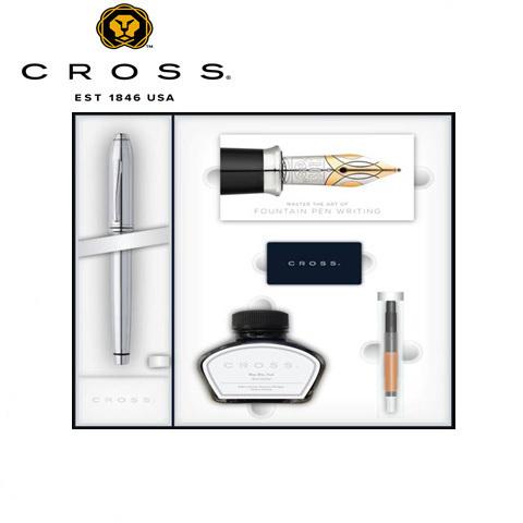 Набор: перьевая ручка, конвертер, 3 картриджа, флакон с черными чернилами CROSS 536-MS/2