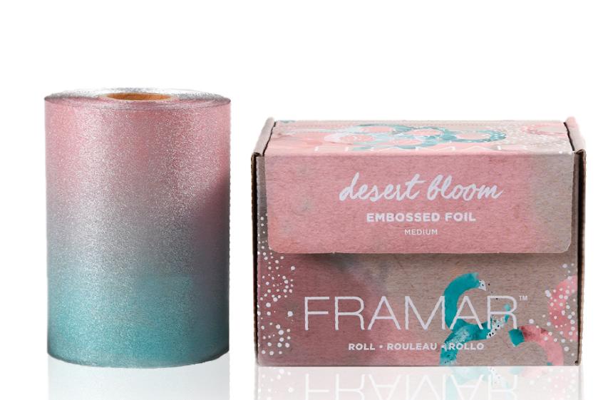 Roll Medium Desert Bloom   Фольга в рулоне с тиснением