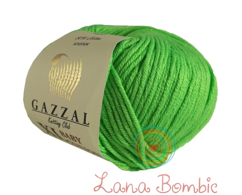 Пряжа Gazzal Baby Cotton XL зелень 3427