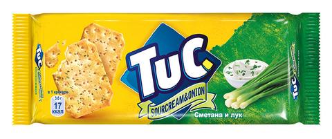 """Крекер  """"Tuc"""" со сметаной и луком 100г"""