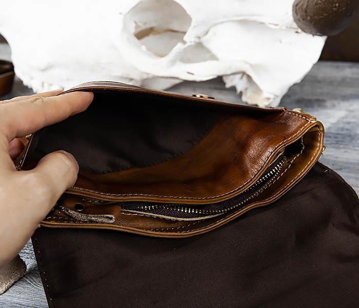 BAG441-2 Мужская сумка из гладкой кожи с ремнем на плечо фото 07