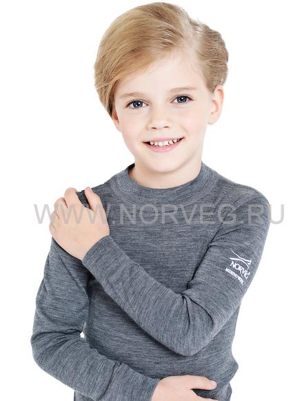 Комплект термобелья из шерсти мериноса Norveg Soft Grey детский