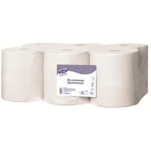 Полотенца бумажные д/дисп. Luscan Professional 2сл. бел цел 6рул./уп. 150м