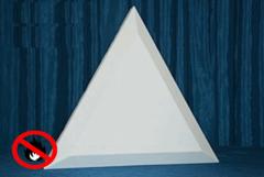 негорючие акустические декоративные элементы треугольники