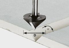 Фреза для выборки V- образного паза в листах гипсокартона HW S8 D32/90°