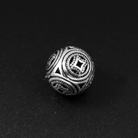Бусина Азия 8 мм серебро 925