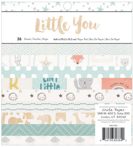 Набор бумаги 15*15 см Little you by Crate Paper
