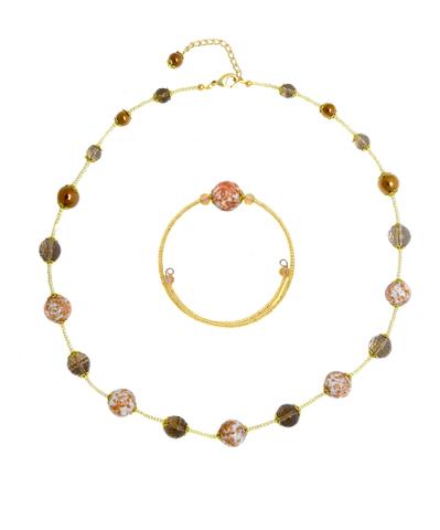 Комплект Amato L'Amore White (ожерелье, браслет)