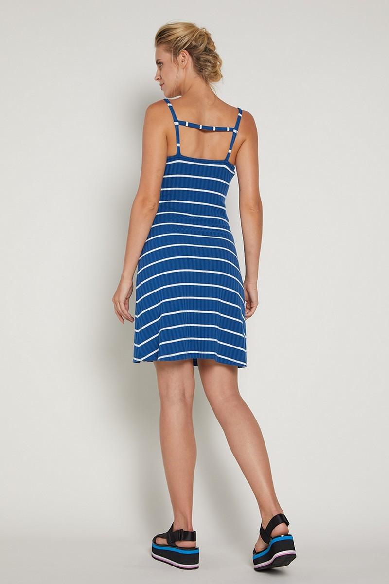 Платье 09363 синие в полоску