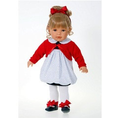 Munecas Antonio Juan Озвученая кукла Корнелия в красном, 55 см (1885R)