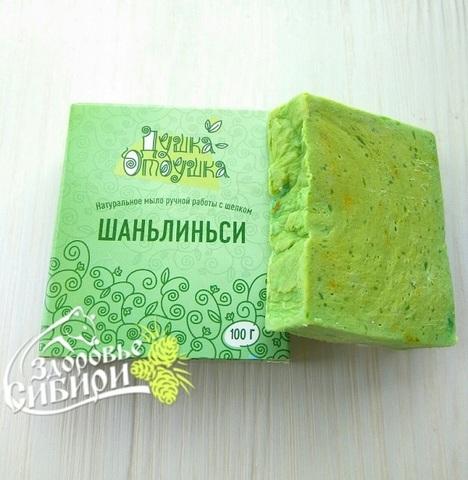 Натуральное мыло ручной работы Шаньлиньси с зеленым чаем, 100 г