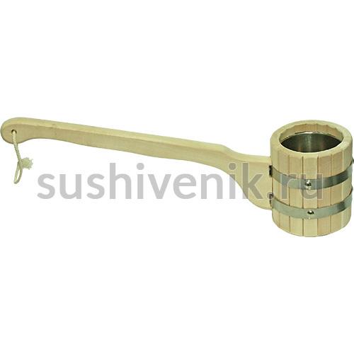 Ковш-черпак бондарный со вставкой из нержавеющей стали, 0,5 л