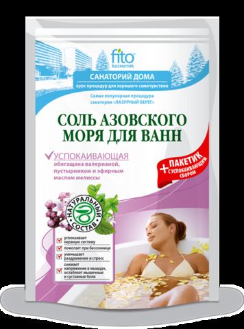 Фитокосметик Санаторий дома Соль для ванн Азовского моря Успокаивающая (500+30)мл
