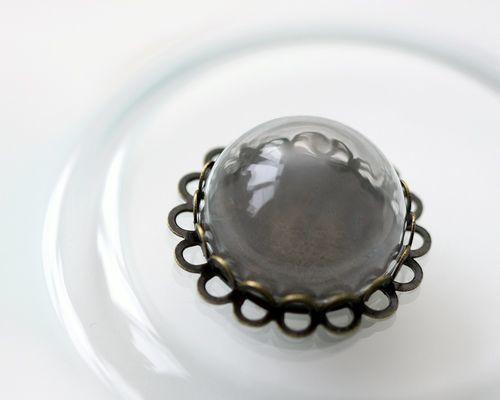 Декоративные кулоны-полусферы прозрачные, 1 шт. Стекло.