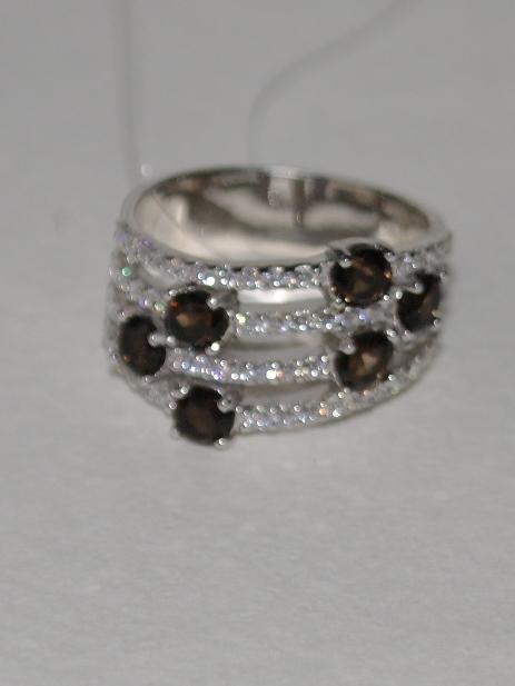 1100162-раухтопаз (кольцо из серебра)
