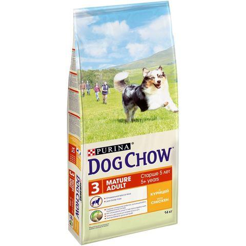 Dog Chow Mature Adult с курицей 14 кг