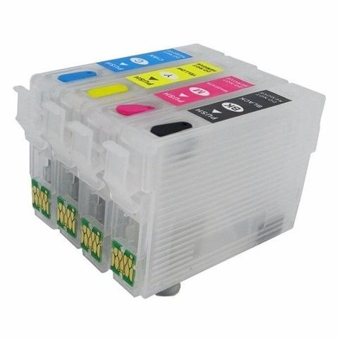 Перезаправляемые картриджи ПЗК Epson WF-3620DWF, WF-7110DTW (T2701-T2704, T2711-T2714), комплект 4 штуки с чипами