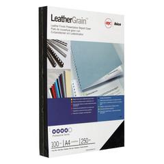 Обложки для переплета картонные GBC т-синие кожа, А4, 250г/м2, 100шт/уп.