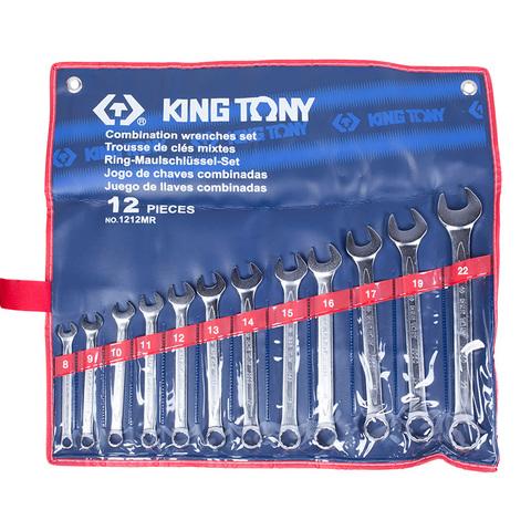 KING TONY (1212MR) Набор комбинированных ключей, 8-22 мм, 12 предметов