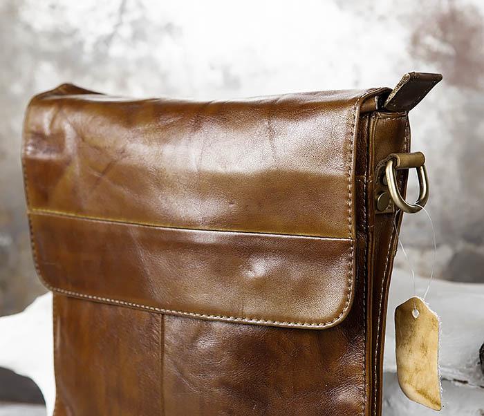 BAG441-2 Мужская сумка из гладкой кожи с ремнем на плечо фото 10