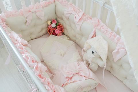 Комплект в кроватку Экрю, на 4 стороны кроватки