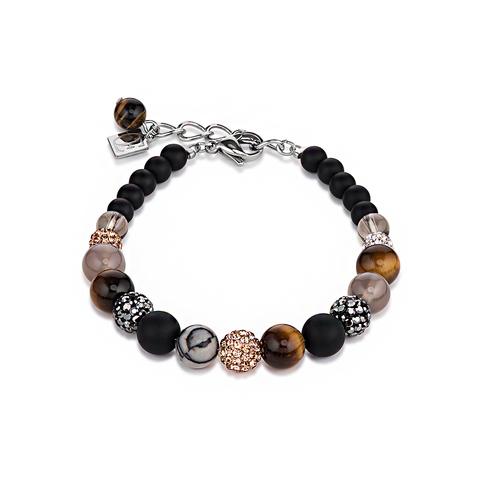 Браслет Coeur de Lion 4888/30-1523 цвет чёрный, коричневый, серый, серебряный