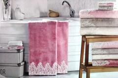 Набор полотенец  JASMIN - ЖАСМИН 3пр 30х50 50х100 и 90х150 Maison Dor (Турция)