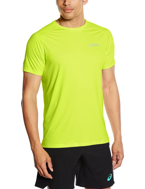 Мужская футболка для бега Asics SS Top (110407 0392) желтая фото