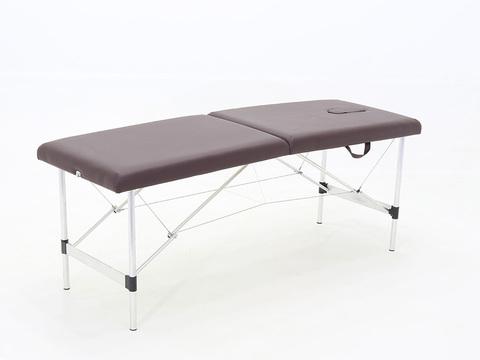 Складной массажный стол Med-Mos JFAL01-F (PA2.00.00A), алюминиевый, 2-секционный, с регулировкой высоты