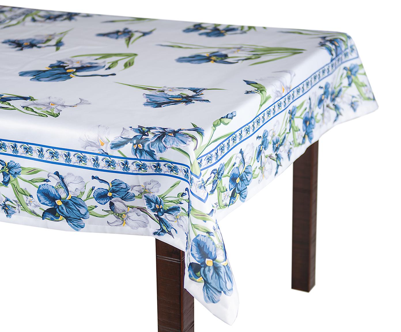 Скатерть 140x220 Blonder Home Iris синяя