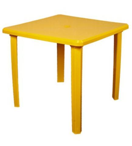 Стол квадратный 80х80 желтый (ИжПласт)