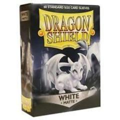 Dragon Shield - Белые матовые протекторы 60 штук