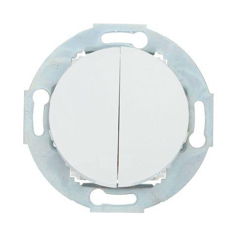 Выключатель двухклавишный (схема 5) 10 A, 250 В~. Цвет Белый. LK Studio Vintage (ЛК Студио Винтаж). 881104-1