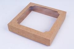 Коробка-трансформер Крафт 14,5х14,5 h=3 см.