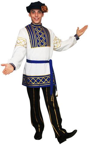 Русский народный костюм Олег синий