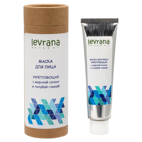 Маска для лица «Укрепляющая» с розовой морской солью и голубой глиной, 50 мл(Levrana)