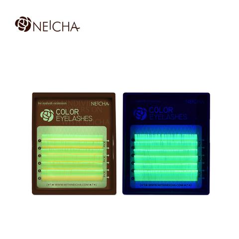 Ресницы NEICHA нейша флуоресцентные 6 линий MIX GREEN