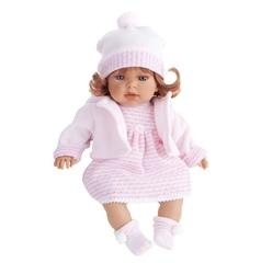 Munecas Antonio Juan Озвученая кукла Лина в розовом, 37 см (1556P)