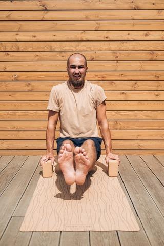 Пробковый коврик для йоги Lines 183*61*0,3см