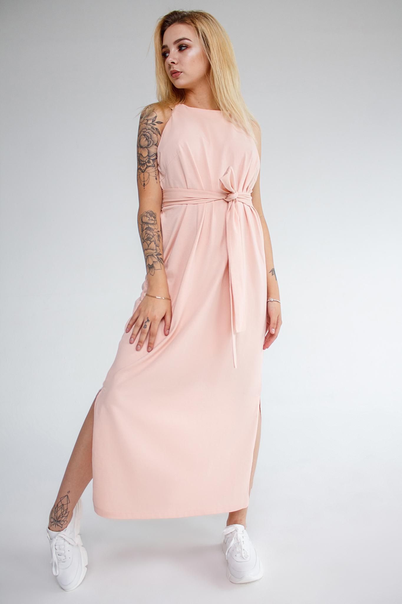 Платье пудровое