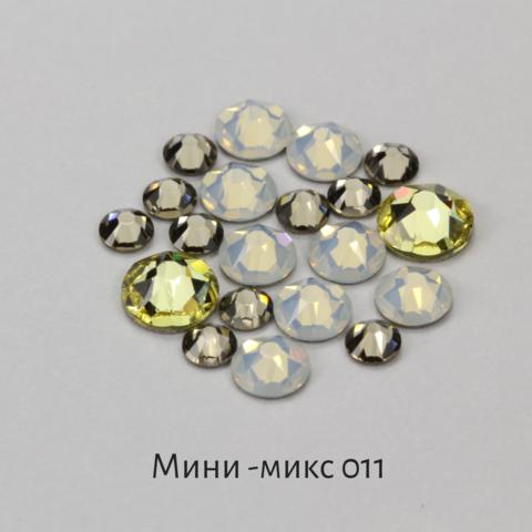 Стразы Swarovski для ногтей, Мини-микс №11 Пина Колада, 20шт.