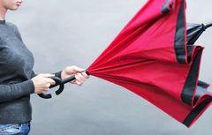 Зонт наоборот Upbrella полуавтомат (с кнопкой)