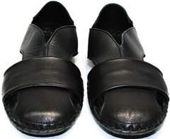Мужские кожаные босоножки Luciano Bellini 801 Black.